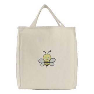 tote lindo de la abeja del bebé bolsa de mano bordada