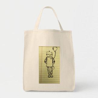 Tote lindo del robot bolsa de mano