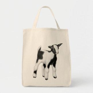 Tote lindo del ultramarinos de la cabra del bebé bolsa tela para la compra