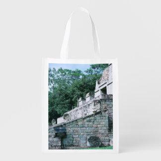 Tote maya antiguo de la impresión de la foto de bolsas de la compra
