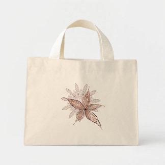 Tote minúsculo del flor árabe bolsa tela pequeña