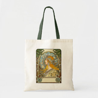 Tote: Mucha Art Nouveau -  Zodiac  - La Plume Tote Bags