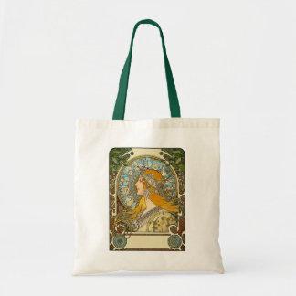Tote: Mucha Art Nouveau -  Zodiac  - La Plume Tote Bag