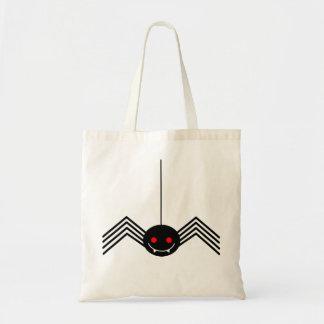 Tote negro del presupuesto de la araña bolsa tela barata