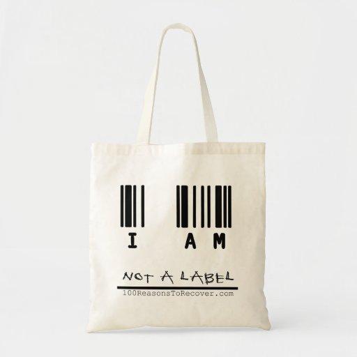 Tote - no una etiqueta bolsa tela barata