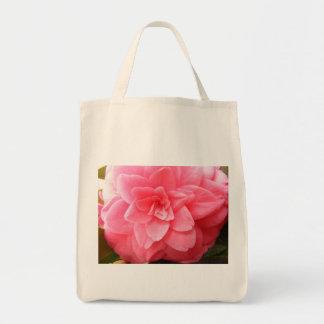 Tote orgánico de las compras con la flor de la bolsa tela para la compra