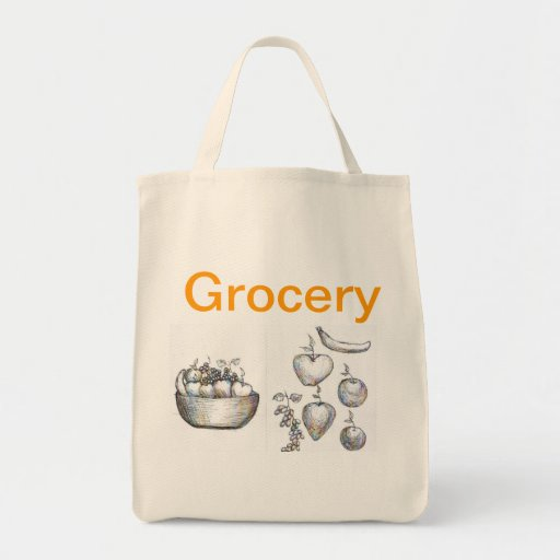 Tote orgánico del ultramarinos bolsa tela para la compra