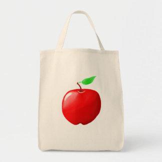 Tote orgánico del ultramarinos de Apple Bolsa Tela Para La Compra