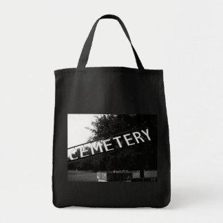Tote oscuro del arte de la muestra del cementerio bolsa tela para la compra