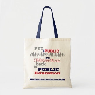 "Tote: PAA's ""Put. . . Back"" Budget Bag"