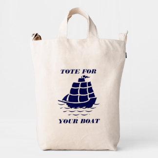 Tote para su ejemplo azul del barco del barco bolsa de lona duck