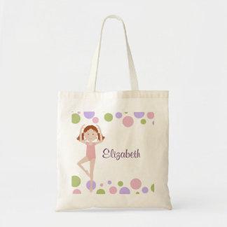 Tote personalizado bailarina dulce bolsa tela barata