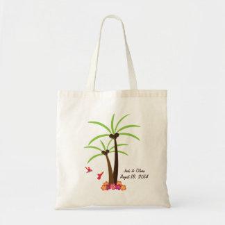 Tote personalizado de la palmera bolsas de mano