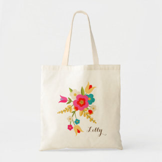 Tote personalizado de Pascua de las flores del Bolsa Tela Barata