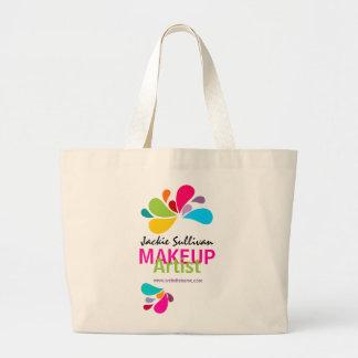 Tote personalizado del artista de maquillaje bolsa tela grande