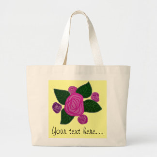 Tote personalizado del jumbo del diseño del rosa bolsa de tela grande