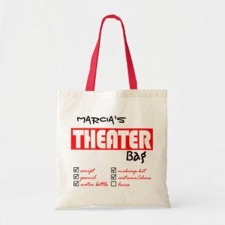 Tote personalizado del teatro bolsa tela barata