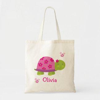 Tote personalizado tortuga linda del bolso para el bolsa tela barata