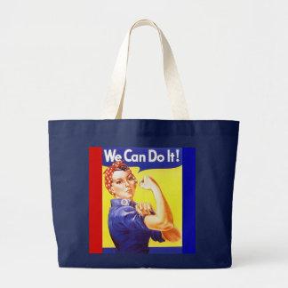"""Tote """"podemos hacerlo!"""" Lema Rosie el remachador Bolsa Tela Grande"""