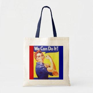 """Tote """"podemos hacerlo!"""" Lema Rosie el remachador Bolsas"""