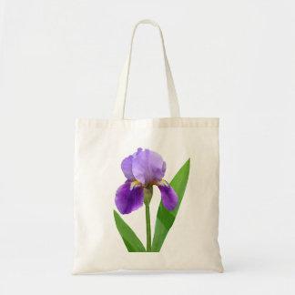 Tote púrpura del iris bolsa lienzo