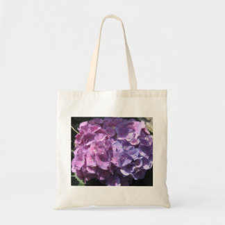 Tote púrpura del presupuesto del Hydrangea Bolsa Tela Barata