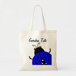 Tote que cultiva un huerto de la mariquita azul bolsa tela barata