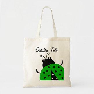 Tote que cultiva un huerto de la mariquita verde bolsa