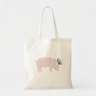 Tote real del cerdo bolsa tela barata
