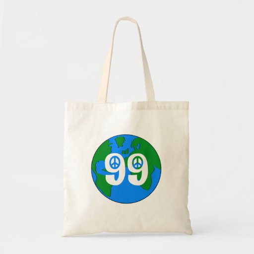 Tote retro de la tierra de la paz del 99% bolsa tela barata