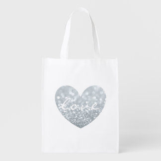 Tote reutilizable - amor del corazón bolsas reutilizables