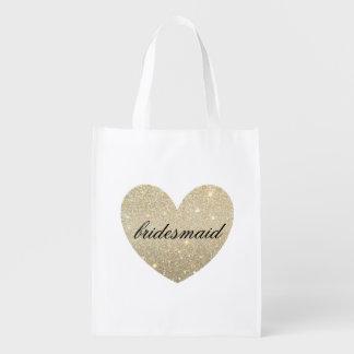 Tote reutilizable - dama de honor fabulosa del bolsas para la compra