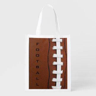 Tote reutilizable del diseño del fútbol bolsa de la compra