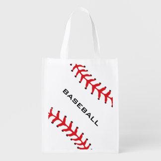Tote reutilizable del diseño del softball del bolsa para la compra