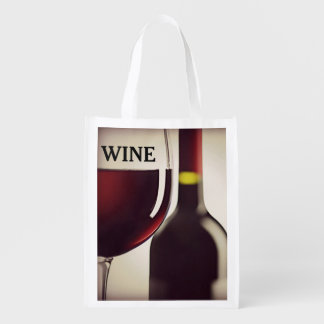 Tote reutilizable del diseño del vino bolsa para la compra