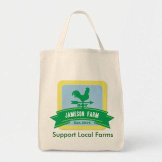 Tote reutilizable del ultramarinos de la granja de bolsas de mano