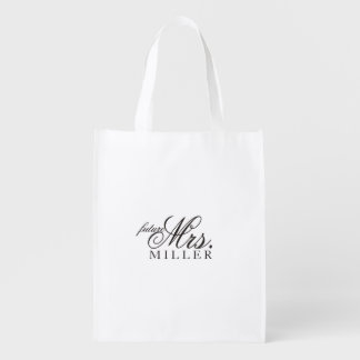 Tote reutilizable - señora futura fabulosa del bolsas de la compra