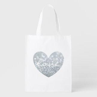 Tote reutilizable - tote del mercado del amor del bolsas reutilizables