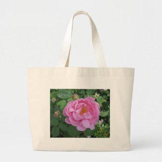 Tote rosado de la flor bolsa