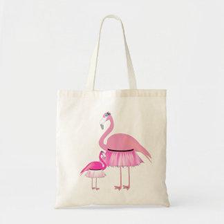 Tote rosado del presupuesto del flamenco bolsa tela barata