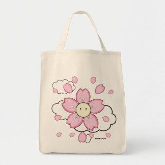 Tote rosado Dolce del ultramarinos de la flor el | Bolsa Tela Para La Compra