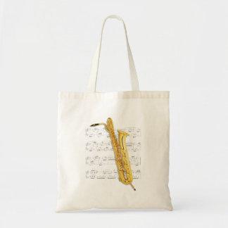 Tote - saxofón bajo y partitura (saxofón de Barry) Bolsas