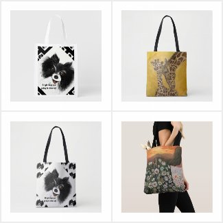 Tote Shopping Bags, Purses,  Etc.