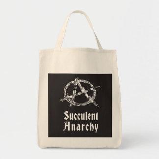 Tote suculento del ultramarinos de la anarquía bolsa tela para la compra