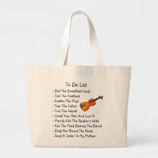 TOTE: To-Do List For An Irish Session Player Large Tote Bag