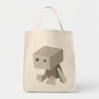 Tote triste del robot bolsa tela para la compra