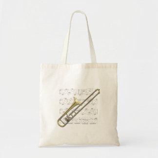 Tote - Trombone (alto) y partitura Bolsa Tela Barata
