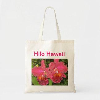 Tote tropical de la flor bolsa tela barata