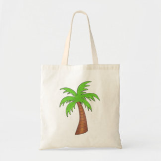 Tote tropical de la palmera del verde de la isla bolsa tela barata