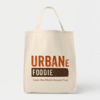 Tote urbano del ultramarinos del logotipo de bolsa tela para la compra